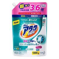 新世代型洗浄成分ウルトラアニオンを新配合したアタック液体史上最強の洗浄力の濃縮液体洗剤。皮脂・食べこ...