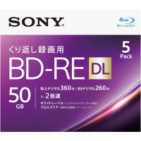 ビデオ用BD-RE DL。大容量50GB(2層)。2倍速(Blu-ray Disc Rewritab...