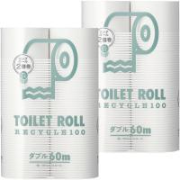 古紙パルプ100%で、国内メーカー製造 省スペースで交換の手間を省く倍巻きタイプ。 オリジナルトイレ...