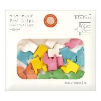 お菓子のようにカラフルでかわいい動物モチーフのクリップ。成分の約半分は紙のため、軽く、やさしい質感で...