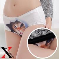 下着 ショーツ 猫パンツ キャット レディース シームレスショーツ ひびかない パンツ 猫 キャット...