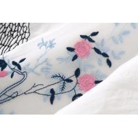 全品送料無料 夏 白 刺繍 チャイナ ワンピース 爽やか 清楚 きれいめ 大人 エレガント レディース チャイナ ワンピース  チャイ