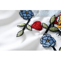 全品送料無料 キャミ ワンピース 刺繍 大人 カジュアル タイガー フラワー レディースキャミ ワンピース 刺繍 大人 タイガ ひざ丈