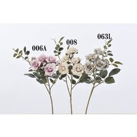 《 造花 》Asca/アスカ ローズ×5 つぼみ×2