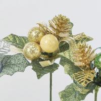 《 クリスマス 造花 》Asca/アスカ ベリーミックスピック (1袋6本入)