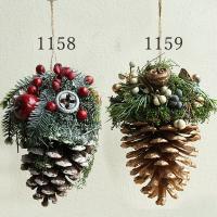 《 クリスマス リース 》★即日出荷★KEI 松ぼっくり 壁掛け 飾り ドライフラワー インテリア