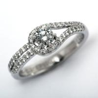 ☆一流ブランドが認めるGIA鑑定ダイヤモンド☆  プラチナを使用し、華やかでオシャレなデザインでお作...