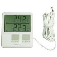 【商品解説】 ●最高/最低 温度の自動メモリー ●室内使用温度範囲:−5〜50℃ ●室外使用温度範囲...