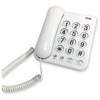 【商品解説】 ●電話回線に接続するだけで使えます。 ●押しやすく大きなダイヤルボタン使用!! ●二人...
