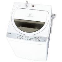 東芝 全自動洗濯機 (洗濯6.0kg) AW-6G6-W グランホワイト(標準設置無料)