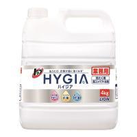 トップ HYGIA(ハイジア) 詰め替え 業務用 注ぎ口ノズル付 4kg 1個 衣料用洗剤 ライオン