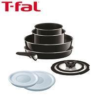 セール  T-fal(ティファール)インジニオ・ネオ 9点セット ハードチタニウム・プラス (鍋 フライパン 取っ手のとれるタイプ)ガス火専用 L60991