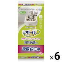 箱売り デオトイレ 複数ねこ用 1週間消臭・抗菌シート 8枚×6袋 ユニ・チャーム