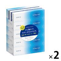 ティッシュペーパー 保湿 180組(5箱入) 1セット(2パック) エリエール+Water 大王製紙