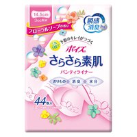 吸水パンティライナー 3cc 44枚 羽なし 14.5cm ポイズ さらさら吸水パンティーライナー フローラルの香り 1パック(44枚)日本製紙クレシア