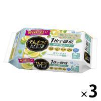エリエールキレキラ 1枚で徹底トイレお掃除シート シトラスミント 詰め替え 1セット(20枚入×3パック) 大王製紙
