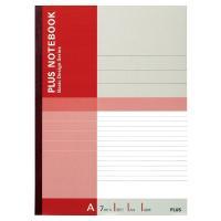 プラス 無線綴じノート ベーシック A4 40枚 A罫 赤 75087 1パック(10冊入)
