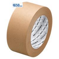 アスクル「現場のチカラ」 油性インクで文字が書けるクラフトテープ 幅50mm×長さ50m巻 茶 1巻