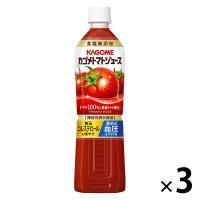 機能性表示食品 カゴメ トマトジュース食塩無添加 スマートPET 720ml 1セット(3本) 野菜ジュース