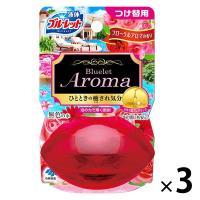 液体ブルーレットおくだけ トイレタンク芳香洗浄剤 つけ替え用 フローラルアロマの香り 70ml×3個 小林製薬