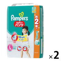 パンパース おむつ パンツ Lサイズ(9~14kg) 1セット(80枚入×2パック) さらさらケア メガジャンボ P&G