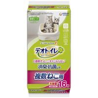 デオトイレ 複数ねこ用 1週間消臭・抗菌シート 大容量 16枚入 1袋 猫砂 ユニ・チャーム