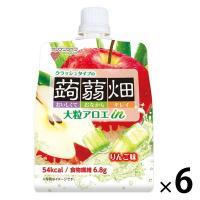 マンナンライフ 大粒アロエinクラッシュタイプの蒟蒻畑りんご味 1セット(6個)