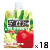 マンナンライフ 大粒アロエinクラッシュタイプの蒟蒻畑りんご味 1セット(18個)