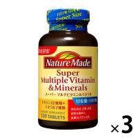 ネイチャーメイド スーパーマルチビタミン&ミネラル 120粒・120日分 1セット(3本) 大塚製薬 サプリメント