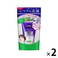 アウトレットニベアクリームケア洗顔料 リフレッシュ+ネット 1セット(2袋:130g×2) 花王