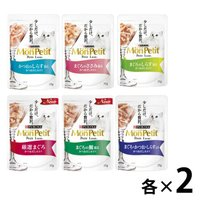 福袋2020 お試しセットモンプチ プチリュクス 猫用 パウチ 12袋(6種各2袋)ネスレ日本