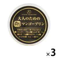 ワゴンセール 北野エース〈キタノセレクション〉大人のための濃厚マンゴープリン 1セット(3個)