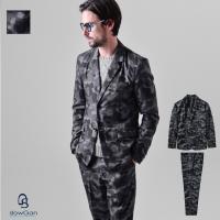 [商品説明] 迷彩柄を用いたテーラードジャケットとスラックスパンツのセットアップ。  ノッチドラペル...