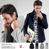 [商品説明] 極上の肌触りと着心地を演出するスウェット素材を用いたイタリアンカラージャケットとスウェ...