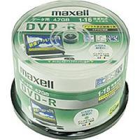 1〜16倍速までの記録に対応したデータ用CPRM対応DVD-Rディスク(4.7GB/50枚入)。