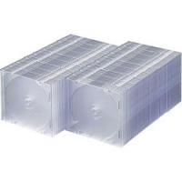 〔メディア収納:BD/DVD/CD対応収納ケース〕 薄さ約5mmとCDケース半分なので省スペースにメ...