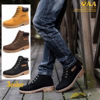 ブーツ メンズ ワークブーツ ショートブーツ ミリタリーブーツ メンズブーツ 紳士靴 革靴 防滑 防...