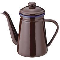 やかん ケトル ih ブレイクタイム コーヒーポット 1.1L ブラウン ホーローケトル サイズ:幅...