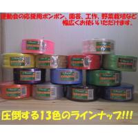 全13色 ボンボン作り・園芸など幅広く使える ローヤル化成 シリバーテープ PEテープ レコード巻 ...
