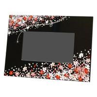 デジタルフォトフレーム 蒔絵 花束(黒) 大切な方へのギフト品として、海外の方へのお土産として大変大...