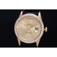 10Pダイヤモンドシャンパン文字盤のデイデイト 18238A アフターダイヤベゼルでございます。オー...