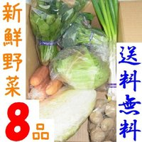 西日本産野菜の詰め合わせ。8点入って送料込3000円。 今月の商品:ほうれん草、たまねぎ、大根(山口...