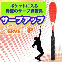 上手な人のサーブの動きはみんな同じ!ポケットに入るサイズのテニスサーブ練習具サーブアップ。サーブにと...