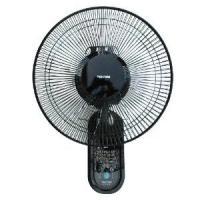 TEKNOS テクノス 30cm壁掛け扇風機 リモコン付き(黒) KI-W301RK