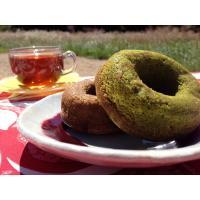 【焼ドーナツ(抹茶)】  抹茶の香りを活かしたオリジナルレシピで焼き上げています。  油で揚げてない...