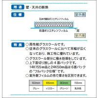 グラスウール 「アクリアマット」 密度24K(高性能) [厚さ50×430×1370mm(4.5尺)] 22枚入り(約4.1坪分) パック入り yamayuu 02