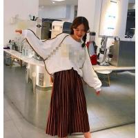 ロングスカート 学生風 ファクション 可愛いスカート