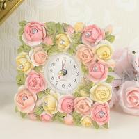 mothersday0514置き時計 サイズ:W13×H13×D3.5cm 材質:ポリレジン 生産国...