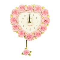 mothersday0514ローズハート 振り子時計 壁掛け式 サイズ:W22×H20.5(振り子含...