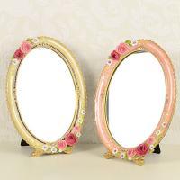 ファームハウス ロイヤルローズ ミラー ピンクとアイボリーの2色よりお選び下さい。 サイズ:約24....